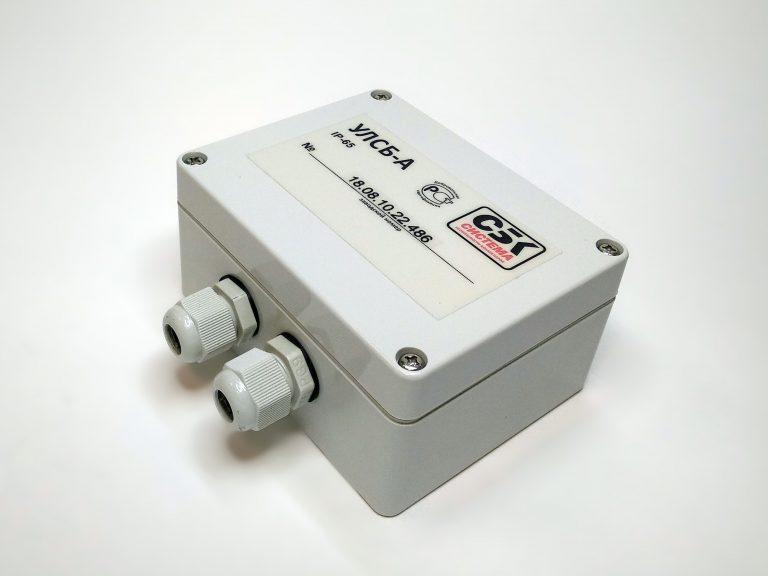 Усилитель сигналов линии – сетевой мост (УЛСБ-А). Обязательный компонент при объединении сегментов сети CAN при расстояниях между любыми двумя устройствами более 1200 метров. Предназначен для усиления и формирования сигналов в информационной линии, обеспечения требуемой нагрузочной способности, согласования параметров линии при подключении Т-образных отрезков, а также при параллельном соединении отрезков линии.