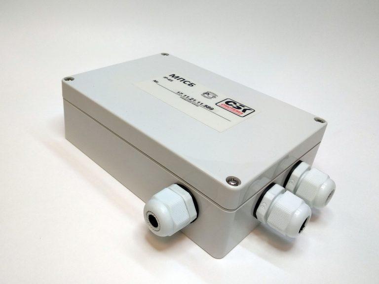 Модуль передачи данных системы безопасности (МПСБ). Предназначен для информационного обмена данными с внешними устройствами через различные интерфейсы. Считывает состояния компонентов и обеспечивает связь с верхним уровнем системы СБК.