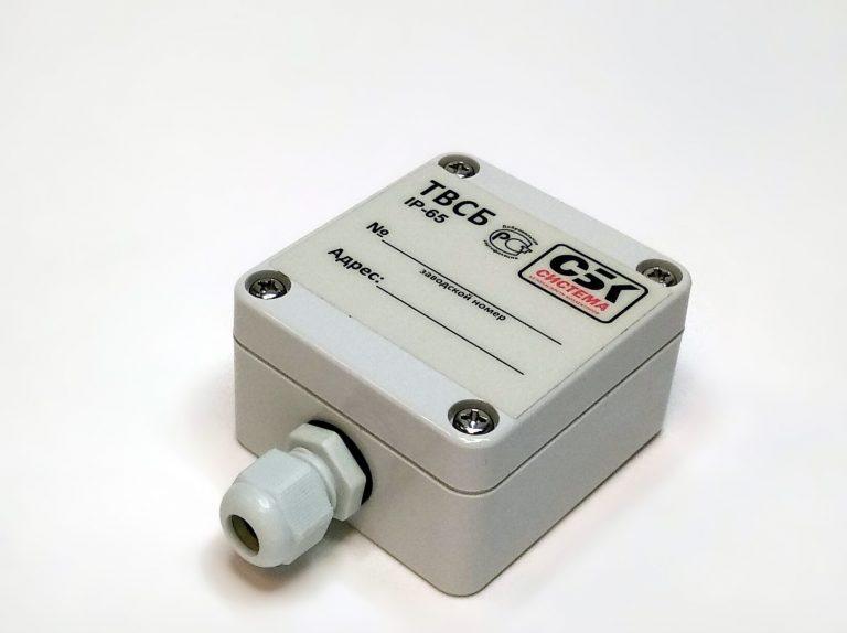 Датчик измерения температуры и влажности системы безопасности (ТВСБ). Преобразует физические величины температуры и влажности в цифровой сигнал и передаёт их в модуль датчиков.